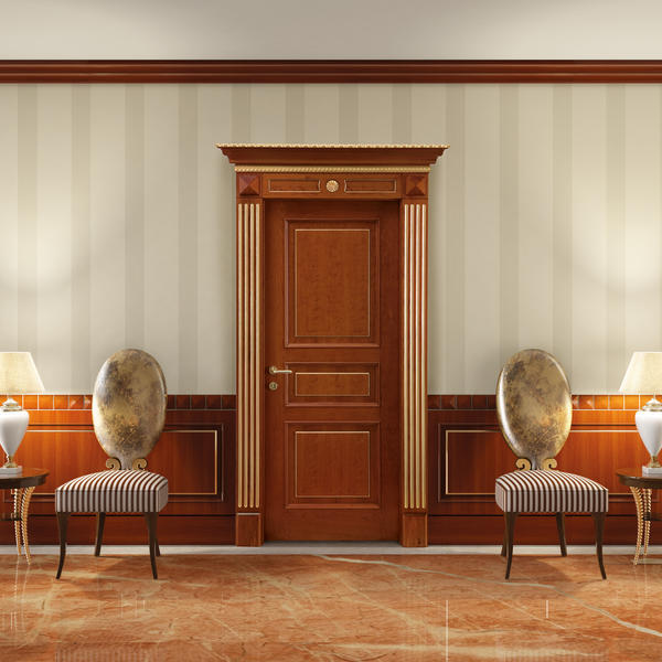 Wood Wainscoting Wall Decoration Classic Style